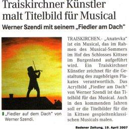 Fiedler am Dach - Musical Kittsee - Werner Szendi