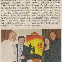 Der Mann von La Mancha - Kittsee Musical - Werner Szendi