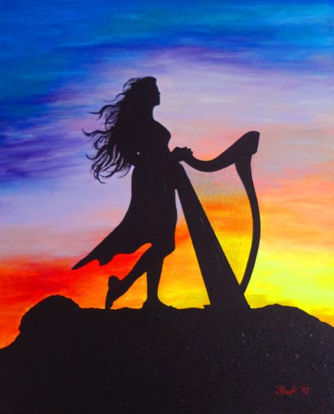 Die Harfenspielerin - The Harp player
