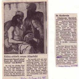 Kirchen Zeitung - Altarbild Edlitz